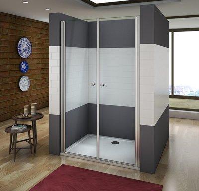 85x195cm duschkabine duschabtrennung nischentr schwingtr duschtr dusche - Dusche Nischentur 85 Cm