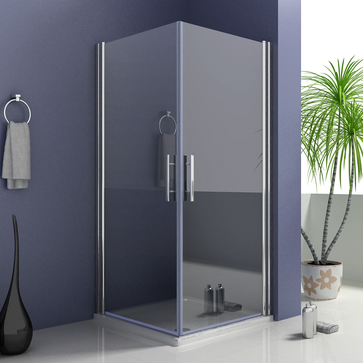 Dusche Pendelt?r Eckeinstieg : Glass Pivot Shower Door Enclosures