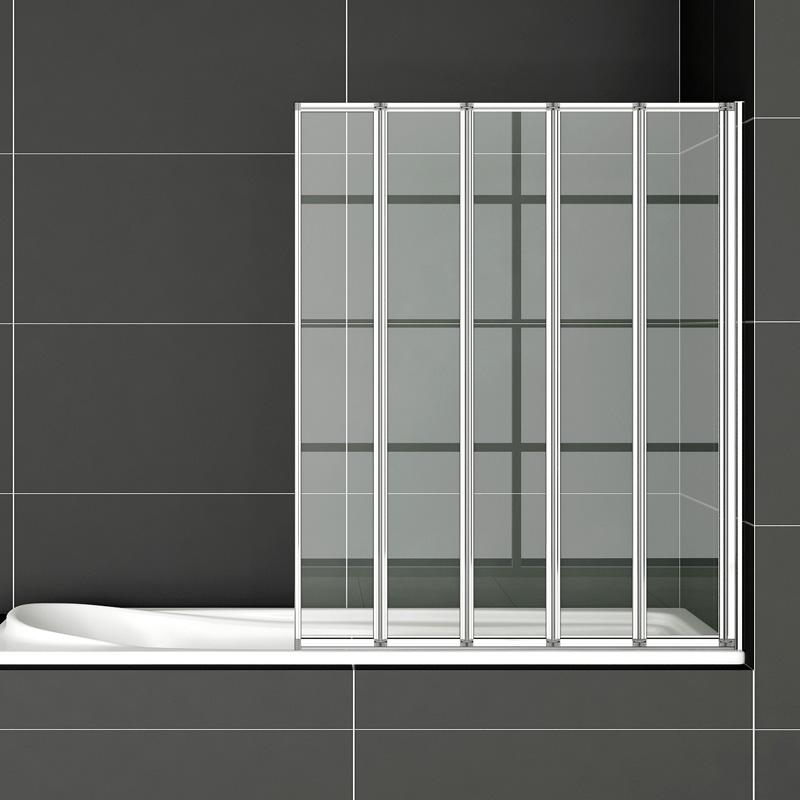 Duschwand Badewanne badewanne 5 ftg falttür duschwand duschabtrennung 120x140cm ff12