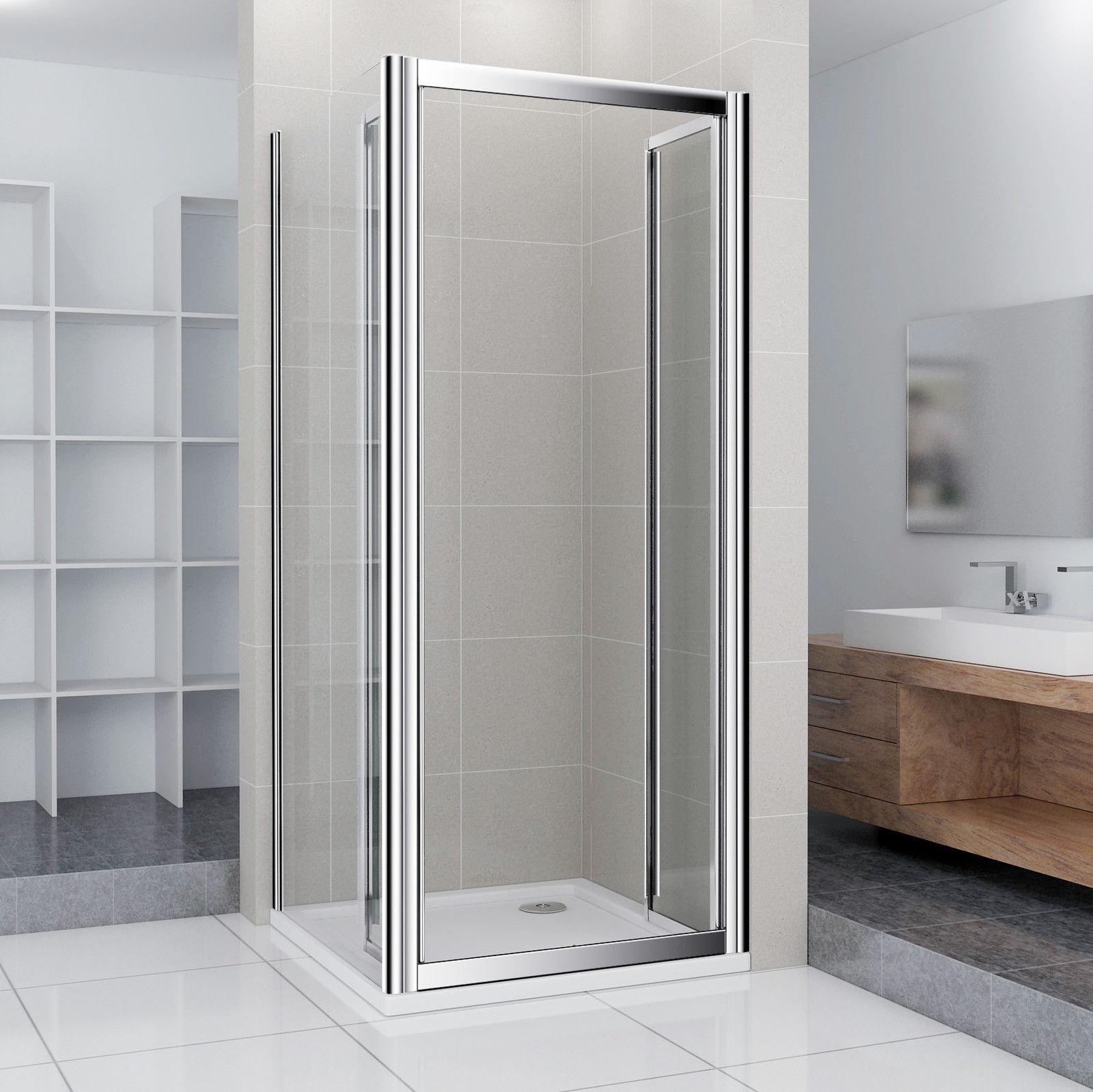 90x76x185cm duschabtrennung klapptür nischentür + duschtasse [ns12 ... - Dusche Klapptur