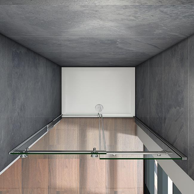 100x195cm duschabtrennung schiebet r duschkabine duschwand. Black Bedroom Furniture Sets. Home Design Ideas