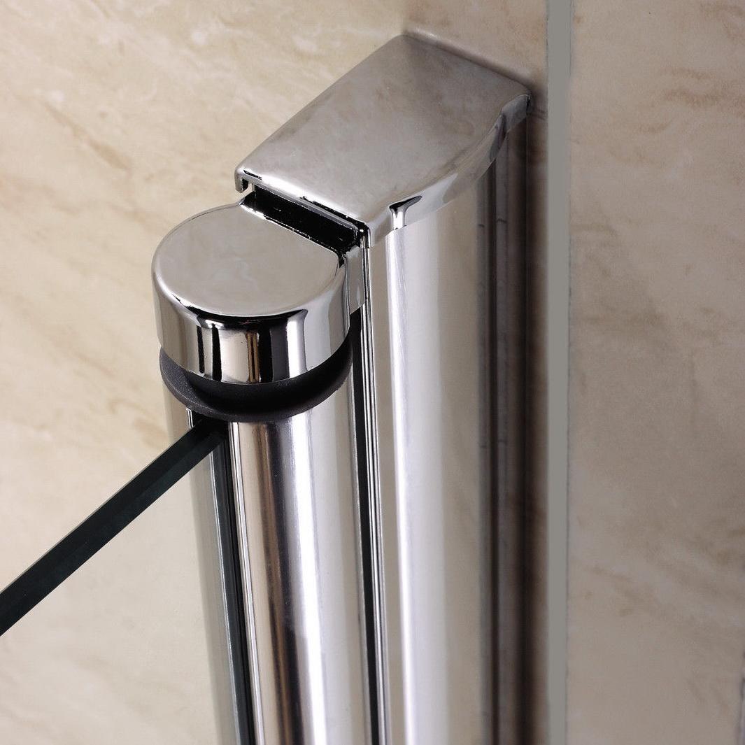 Shower door porte de douche pivotante anticalcaire verre - Montage porte de douche ...