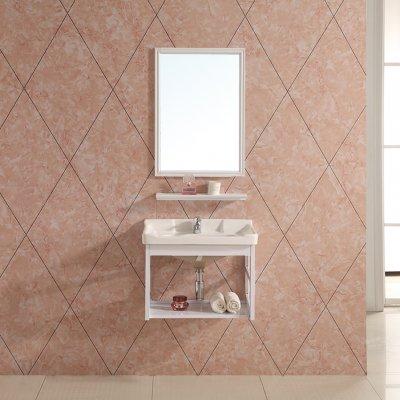 Badmöbel Set Badschrank Waschbecken Waschtisch Schrank Spiegelablage Weiß