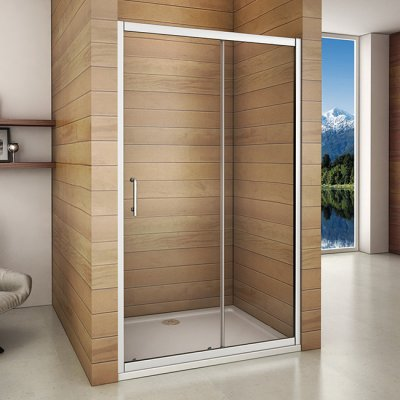 110x185cm duschabtrennung schiebet r duschkabine duscht r duschwand eckdusche sm11m 133 94. Black Bedroom Furniture Sets. Home Design Ideas