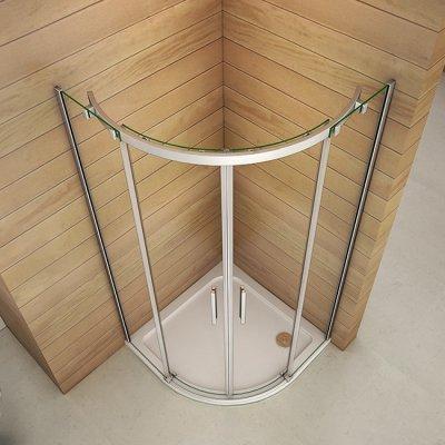 90x90x195cm duschkabine viertelkreis runddusche schiebet r duschabtrennung dusche ql99 4a ql99. Black Bedroom Furniture Sets. Home Design Ideas