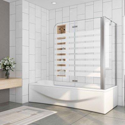120x140cm Badewanne Aufsatz Faltwand Duschwand 6mm Esg Glas Mit Seitenwand Vs2e 12yr Spvs2exx 194 32 Aica Sanitar Gmbh Duschkabine Duschabtrennung