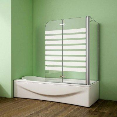 120x140cm Badewanne Aufsatz Faltwand Duschwand 6mm ESG Glas ...