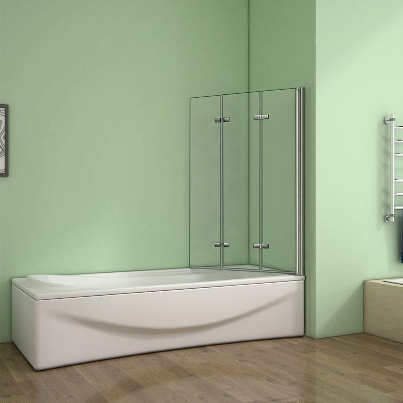 Berühmt Badewanne 3 tlg. Faltwand Duschwand duschabtrennung 130x140cm QP83