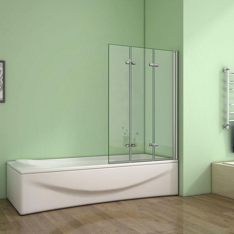 Beliebt Badewanne 3 tlg. Faltwand Duschwand duschabtrennung 130x140cm NH78