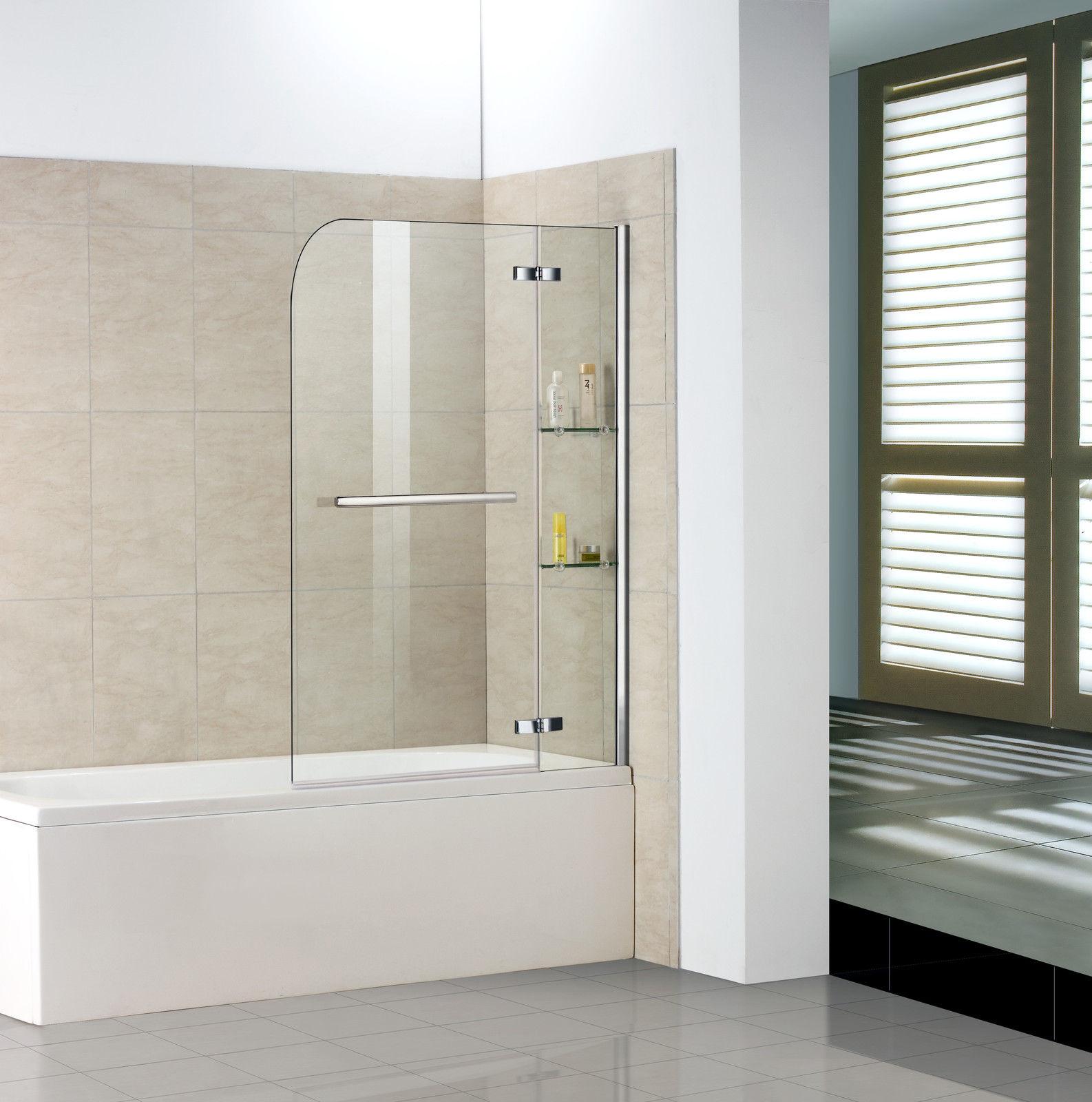 100x140 cm badewanne 2 tlg faltwand duschwand for Duschabtrennung badewanne