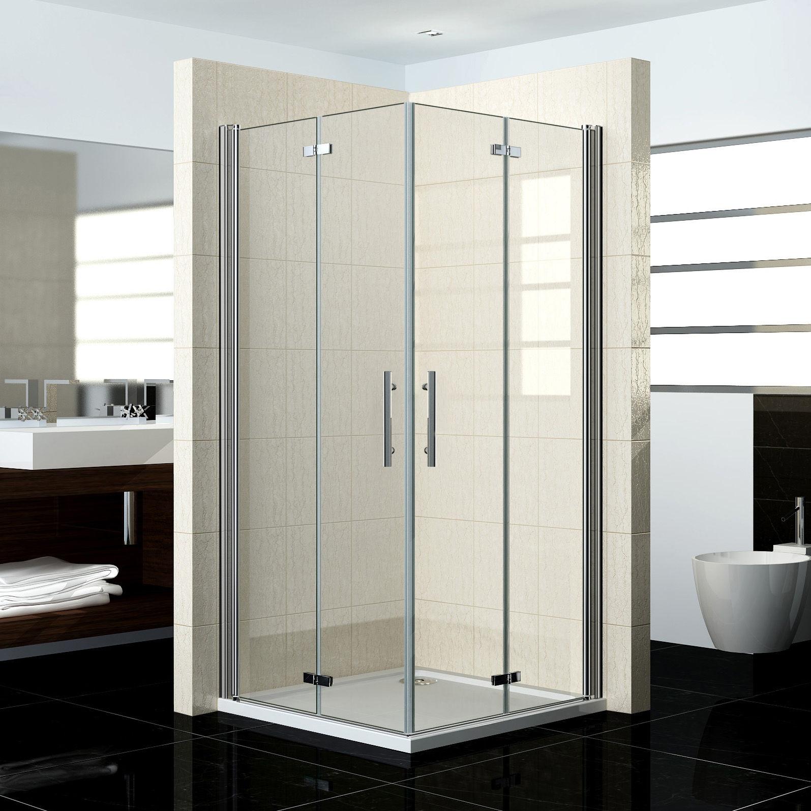 Duschkabine 100x100 120x100 120x120 Eckeinstieg Duschabtrennung Echtglas Dusche