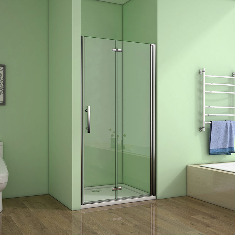 Duschabtrennung Schiebetür 100//120cm Duschkabine Dusche Nischentür 6mm ESG Glas