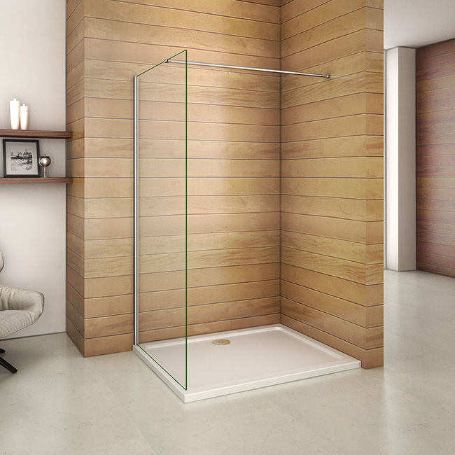 80x185cm walk in duschabtrennung duschwand 6mm nano glas wap80e f 130 116 84 aica sanit r. Black Bedroom Furniture Sets. Home Design Ideas