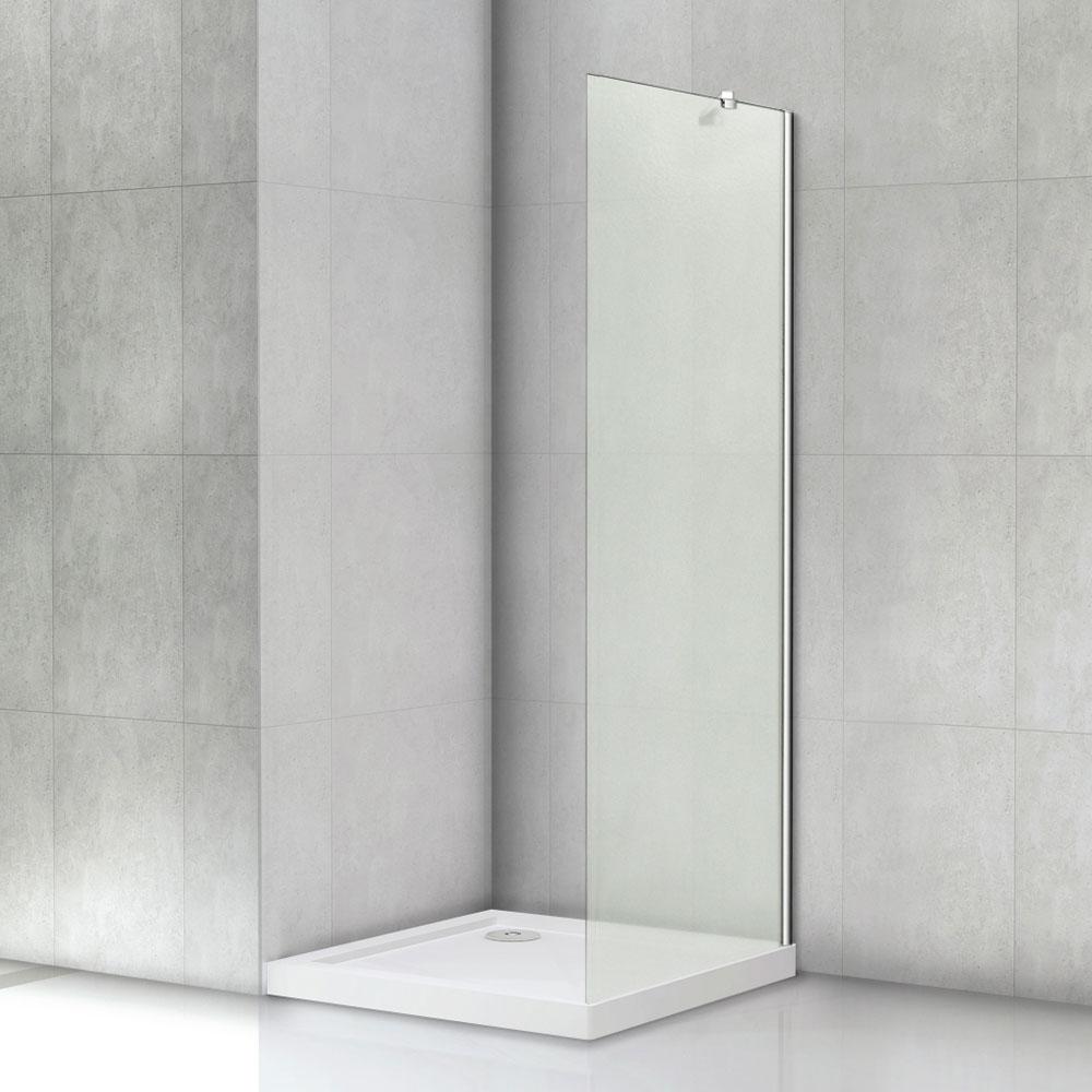 Duschabtrennung glaswand  Walk in Duschkabine Duschabtrennung 80x190cm 8mm NANO Glaswand ...