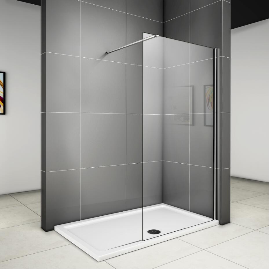 Duschabtrennung Duschwand Seitenwand Walk in 90x200cm 8 mm NANO ... | {Duschabtrennung badewanne mit seitenwand 37}