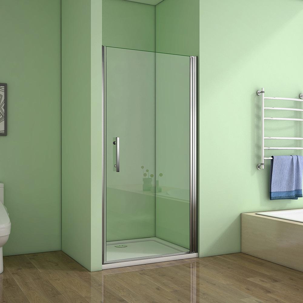 70x190 cm Duschabtrennung Duschwand Nischentür NANO Glas ...